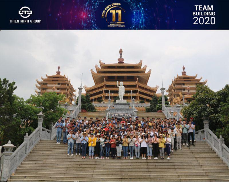 """Khép lại chương trình du lịch TeamBuilding """"Connecting Together"""" mừng kỷ niệm sinh nhật Tập đoàn tròn 11 tuổi, được tổ chức 02 ngày 09-10/6 tại Khu du lịch Suối Mơ."""